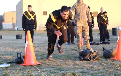 Military Intelligence Battalion troops field test Army Combat Fitness Test